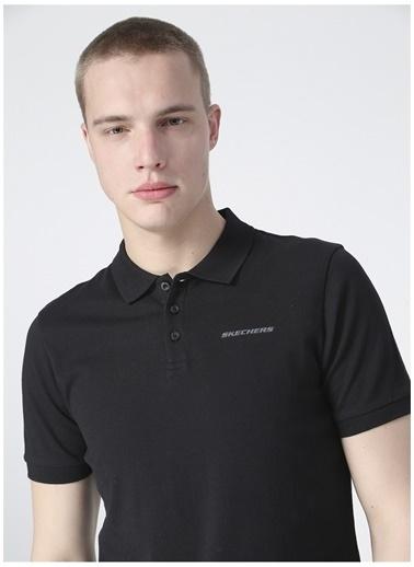 Skechers Skechers Erkek Siyah Polo Yaka T-Shirt Siyah